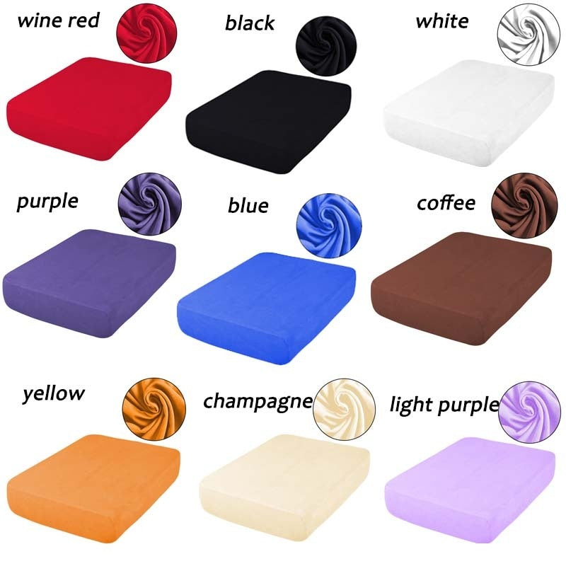 New Arrived 11 Colors Universal Cheap Waterproof Sofa Cushion Covers Stretch Ice Silk Furniture Protector for Sofa Chair Seat Cushion 1/2/3/4 Seater