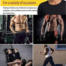 Load image into Gallery viewer, Men's Fashion Neoprene Slimming Shaping T-Shirts Body Shaper Compression Shirt Neoprene Workout Abdominal Trainer Fitness T-Shirt