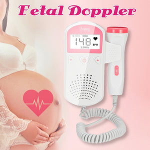 2.0MHz Ultrasonic Fetal Doppler Baby Heart Rate FHR LCD Detector Doppler Prenatal Screen Display Monitor ABS