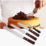 4/6/8/10 inch Stainless Steel Cake Spatula Butter Cream Icing Frosting Knife Smoother Kitchen Pastry Cake Decoration Tools