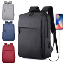 Load image into Gallery viewer, 17.3 Inches Laptop Backpack Waterproof Travel Canvas Backpack with USB Charging Port School Bag for Student Men Women