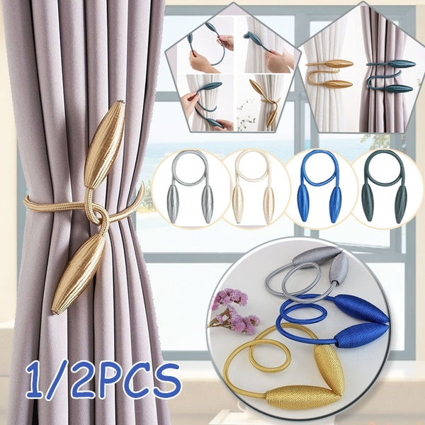 BEL AVENIR 2PCS Handmade High Quality Window Metal Formable Curtains Tieback Curtains Buckle  Home & Living Decoration 10 Color