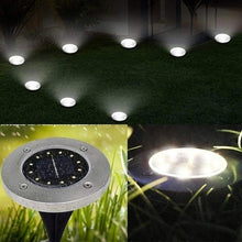 Load image into Gallery viewer, Professional 8/12PCS 12 LED Solar Power Buried Light Pathway Light Ground Lamp Waterproof Outdoor Night Landscape Light