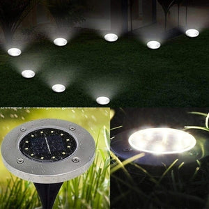 Professional 8/12PCS 12 LED Solar Power Buried Light Pathway Light Ground Lamp Waterproof Outdoor Night Landscape Light