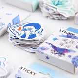 46PCS/Pack Kawaii Stationery Stickers Planner Scrapbooking Girl Generation Series Flower Cute Boxed Japanese Diary Sticker