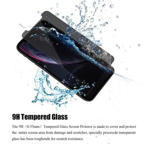 New 3D Privacy Anti-Spy Tempered Glass Screen Protector for iPhone X/XS MAX/XR/6/6s/7/8/6Plus/7Plus/8Plus