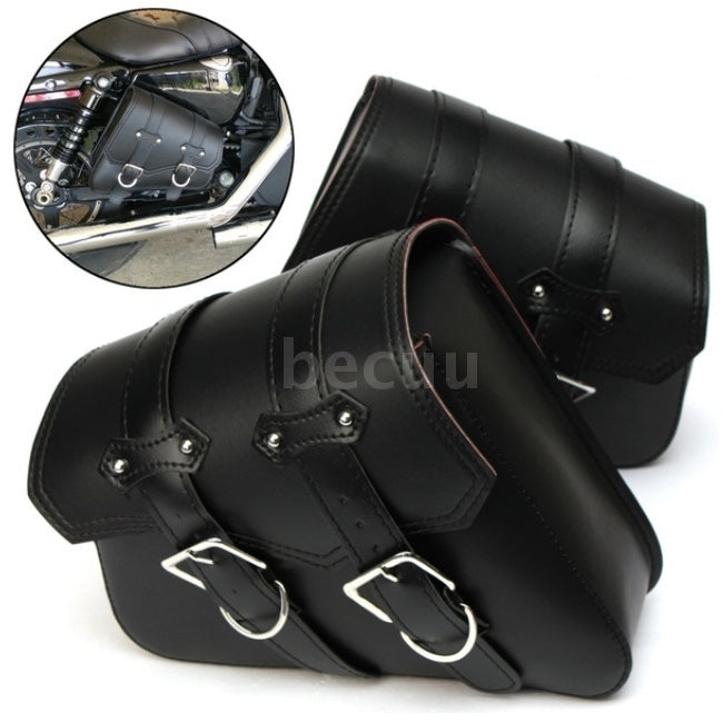 2Pcs Motorcycle Side Bag Autobike Saddlebags Pouch Pu Leather Tool Bag For Harley Davidson Touring Cruiser