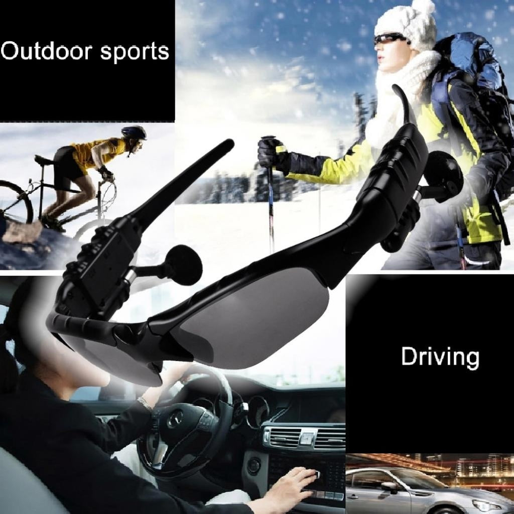 Smart Goggles Bluetooth Sunglasses Stereo Sports Music Calling Sunglasses Mobile Phones Driving Cycling Glasses Earphone Wireless Headset with Mic Gift