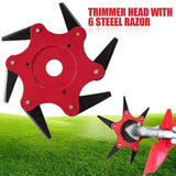 6 Tooth Steel Razor Updated Trimmer Head Cutter Garden Grass Tool Fit Lawn Mower 1pcs