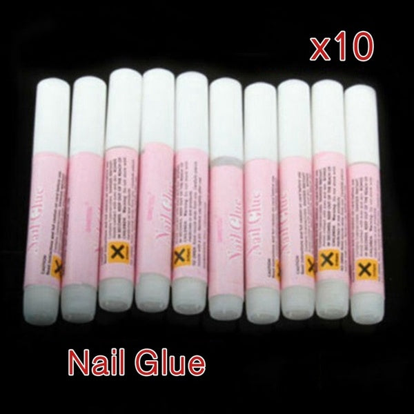 10Pcs 2G Mini Professional Beauty Nail False Art Decoration Tips Acrylic Glue