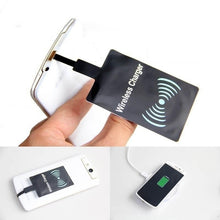 Load image into Gallery viewer, New Fashion Universal Black QI Wireless Charging Receiver for Android Iphone and Samsung