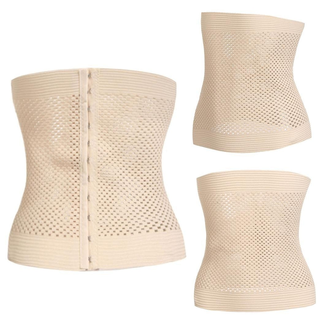 Women Casual Solid Three-breasted Buckle Waist Slimming Shapewear Corset