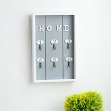 Load image into Gallery viewer, Wooden Key Rack Wall Hanging Storage Keys Hanger Hooks Cabinet Home Decor