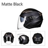 Summer New GXT Double Lens Motorcycle Helmets Half Face ABS Motorbike Helmet Electric Safety Helmet for Women/Men Moto Casque