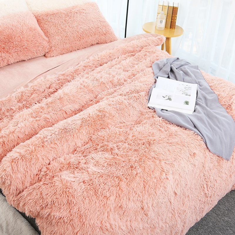 Super Large Size Luxurious Plush Faux Fur Throws Bed Blankets Soft Cozy Warm Fluffy Comfortable Blankets 200x230cm