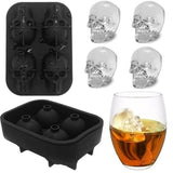Halloween Skull Shape Silicone Ice Ball Trays Ice Cube Maker Mold