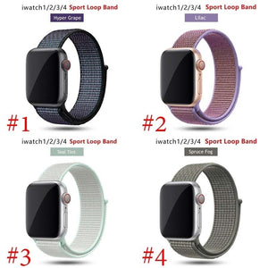 Stylish Nylon Watch Strap For Apple Watch Band 38mm/40mm For IWatch 4 Band 42mm/44mm Sport Loop Belt Bracelet For Apple Watch 4 3 2 1 Accessories