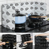 New 3 colors Kitchen Stove Foil Plate Oil Splash Proof Aluminium Foil Plate Oil-proof Washable Hot Baffle Kitchen Tool(83*32CM)