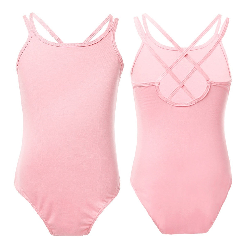 Child Girls Ballet Dance Leotards Kids Gymnastics Sleeveless Bodysuit Unitard