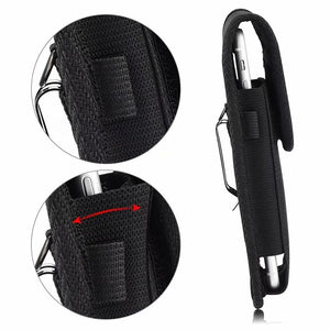 1PC Pouch for Mobile phone Carrying Cell Phone Holder Nylon Holster Rugged Black Holster Case Belt Clip