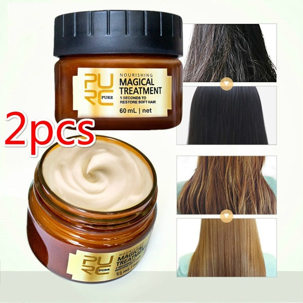 60ml Magical Treatment Mask 5 Seconds Repairs Damage Restore Soft Hair Pure Keratin Hair & Scalp Treatment All Hair Types