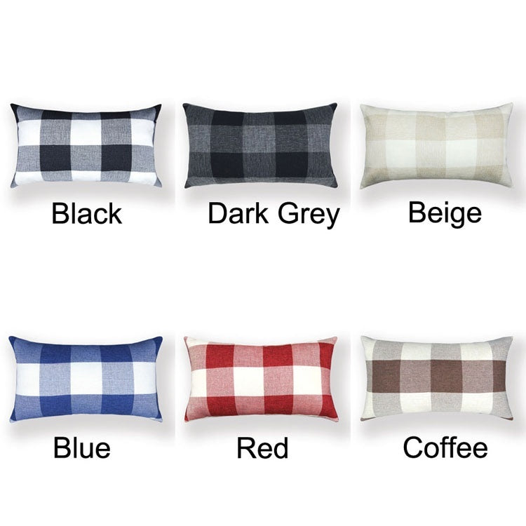 Checkers Plaid Throw Pillow Cases Buffalo Sofa Cushion Cover Cotton Linen Decorative Pillow Covers