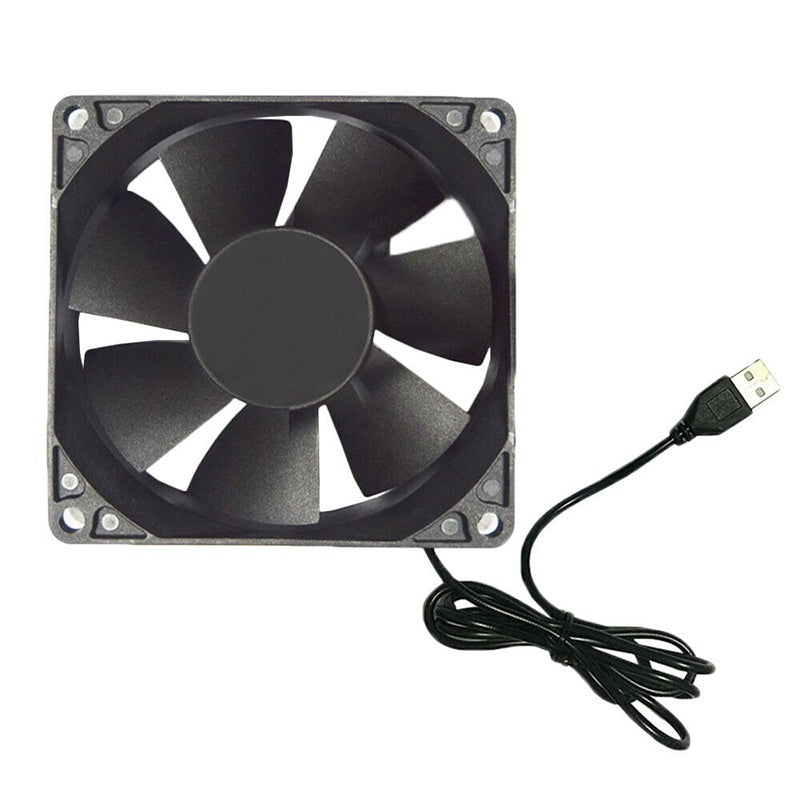 12cm DC 5V USB Cooler Black Silent Cooling Fan For Desktop PC Computer Case