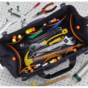 15/17/20 inch Portable Electrician Canvas Tool Bag Oxford Canvas Rubber-soled Heavy Duty Tool Bag Contractor Storage Hardware Case