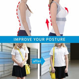 Invisible Posture Corrector for Men & Women Upper Back Brace for Clavicle Support & Providing Pain Relief from Neck, Back & Shoulder