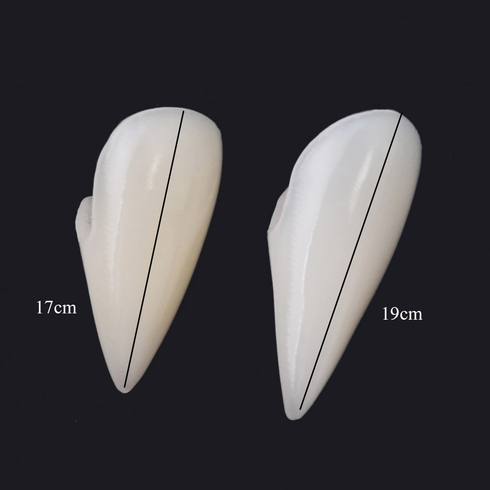 2PCS Halloween Cosplay Vampire Fangs Werewolf Teeth Fancy Dress Costume Accessory Tooth