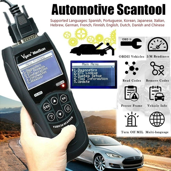 Vgate Scantool VS890 Professional OBD OBD2 Car Diagnostic Scanner Car Code Data Readers Car Engine Diagnosis Automotive Products