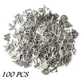 Wholesale Tibetan Silver Mixed Flower Animal Crown Shape Bead for Charm Pendants Diy Jewelry Making
