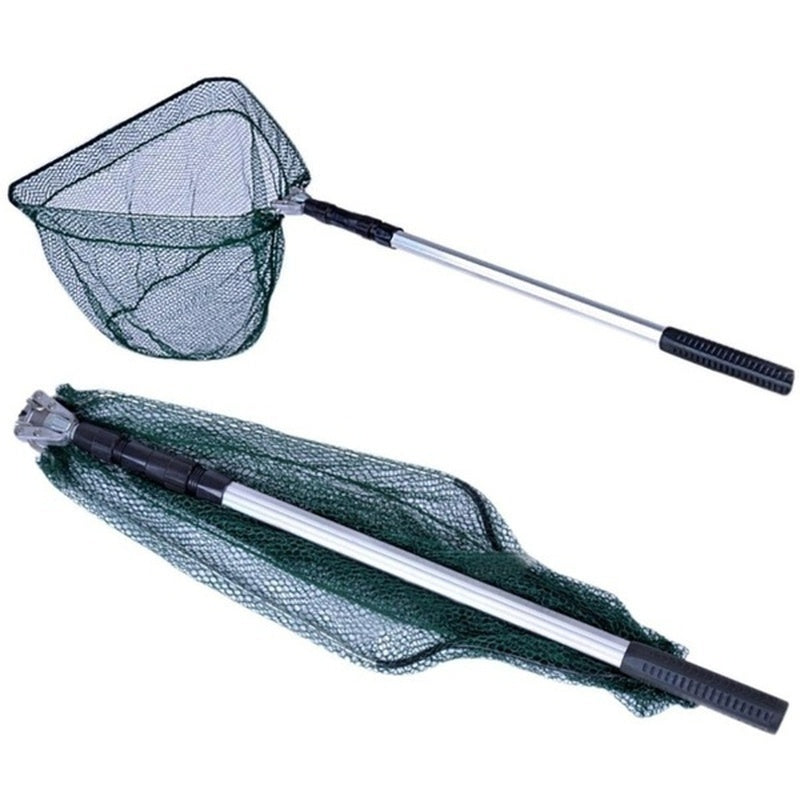 1PCS 170cm /210cm Folding Fishing Net Telescopic Fishing Net Scoop Net Fishing Tools