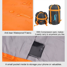 Load image into Gallery viewer, Lightweight Sleeping Bag (-5 - 20 Degree Celsius)Portable Sleeping Bag 4 Seasons Warm Cold Weather  Waterproof  with Compression Sack for Adults Kids Indoor Outdoor Camping Backpacking Hiking