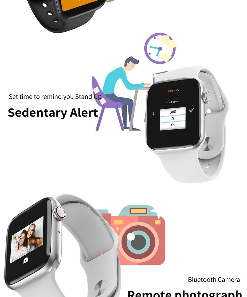 2020 New Fashion Smart Watch(GPS,44mm) Alloy Metal Shell Smartwatch Bluetooth Call Touch Screen Smartwatch Intelligent Fitness Tracker Heart Rate Monitor for Android IOS