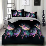 YHhuah Brand New Floral Print Bedding Set Comfortable and Stylish Bed Set(Baby/Single/Twin/Double/Full/Queen/King Size)