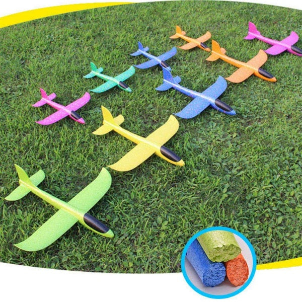 Foam Hand Throw Airplane Aircraft Model Launch Glider Plane Kids Toys