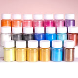 4 Pcs/set Mixed Color Resin Jewelry DIY Making Craft Glowing Powder Luminous Pigment Set Crystal Epoxy Material BAR