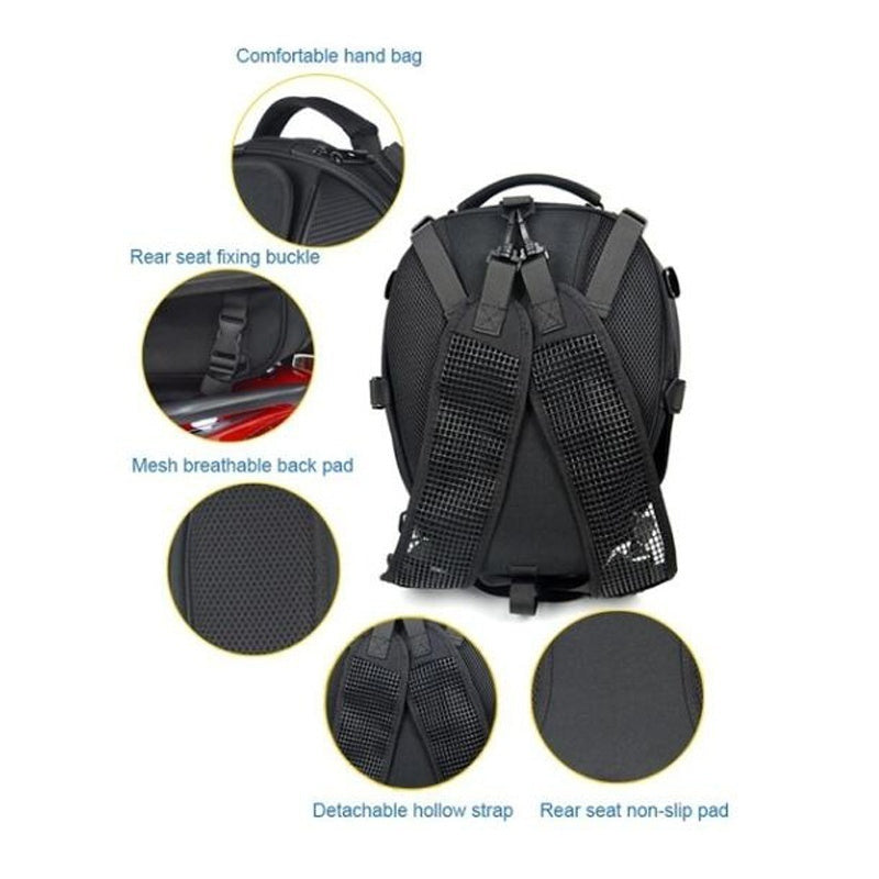 High Quality Waterproof Motorcycle Tail Bag Multi-functional Durable Rear Motorcycle Seat Bag High Capacity Motorcycle Rider Backpack