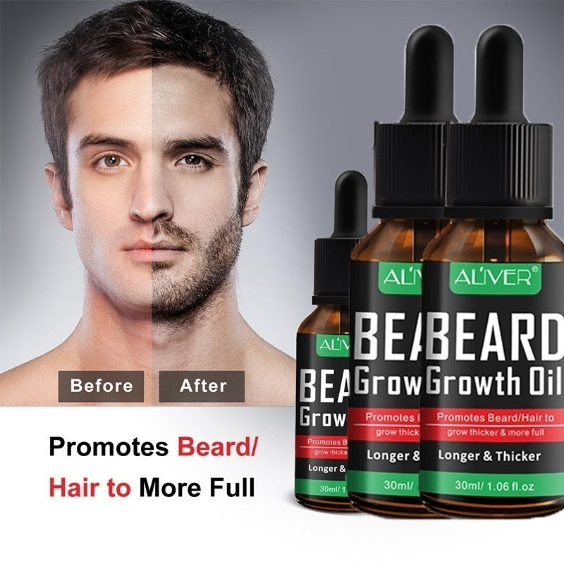 2019 new beard underarm and chest to grow oil essential oils. Longer and thicker. Real man