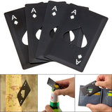 1pcs Creative Stainless Steel Poker Spade A Multifunctional And Durable Beer Bottle Opener