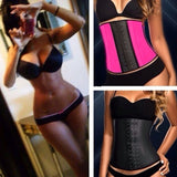 Women's Fashion Sport Rubber Latex Waist Trainer Cincher Steel Boned Corset Top Body Shapers Slimming Shapewear