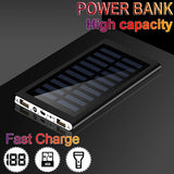 New Upgrade Popular 2000000mAh Ultra Thin 9mm Original Solar Power Bank External Solar Charger Powerbank for All Mobile Phone for Outdoors/camping/explore