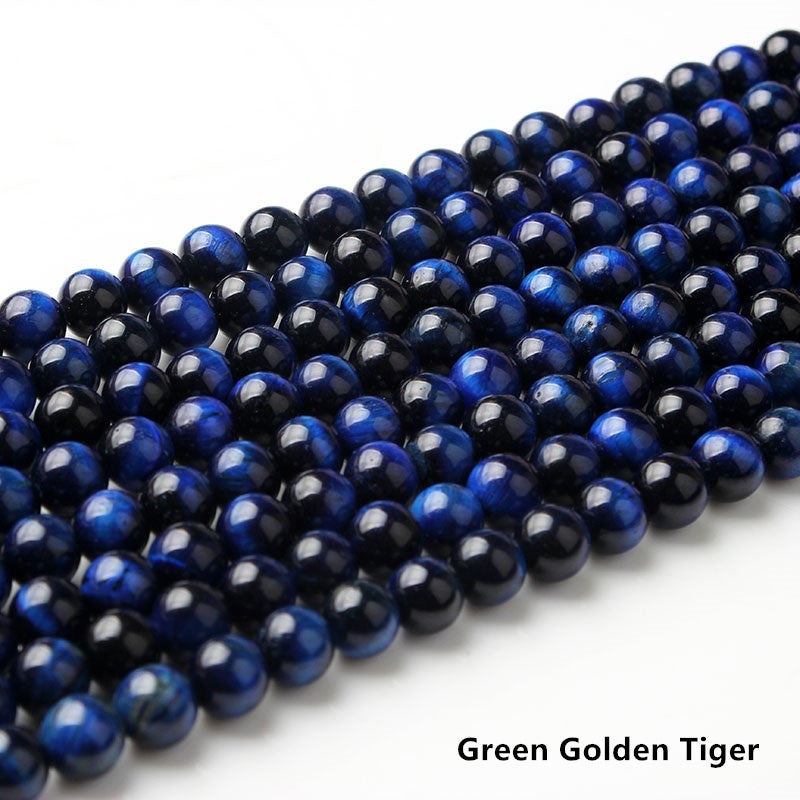 LanLi  6/8/10/12mm Fashion Natural Jewelry Tiger eye stones Loose Stone Jewelry Beads be fit for DIY Bracelet Necklace