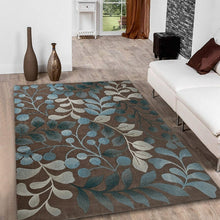 Load image into Gallery viewer, 3 Sizes Non-slip Carpet Plant Leaves Branch Contours Botanical Pattern Home Rug Personality Creative Design Living-room/Bedroom Rug Home Decor Floor Mat Area Rug Kitchen Rug