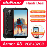 Ulefone Armor X3 Rugged Smartphone Android 9.0 IP68 Android 5.5' 2GB 32GB 5000mAh 3G Rugged Cell Phone Mobile Phone Android