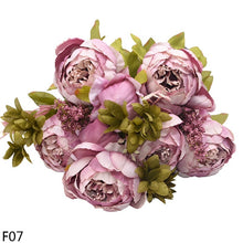 Load image into Gallery viewer, 13 Heads European Style Fake Artificial Peony Silk Decorative Party Flowers for Home Hotel Wedding Office Garden Decor