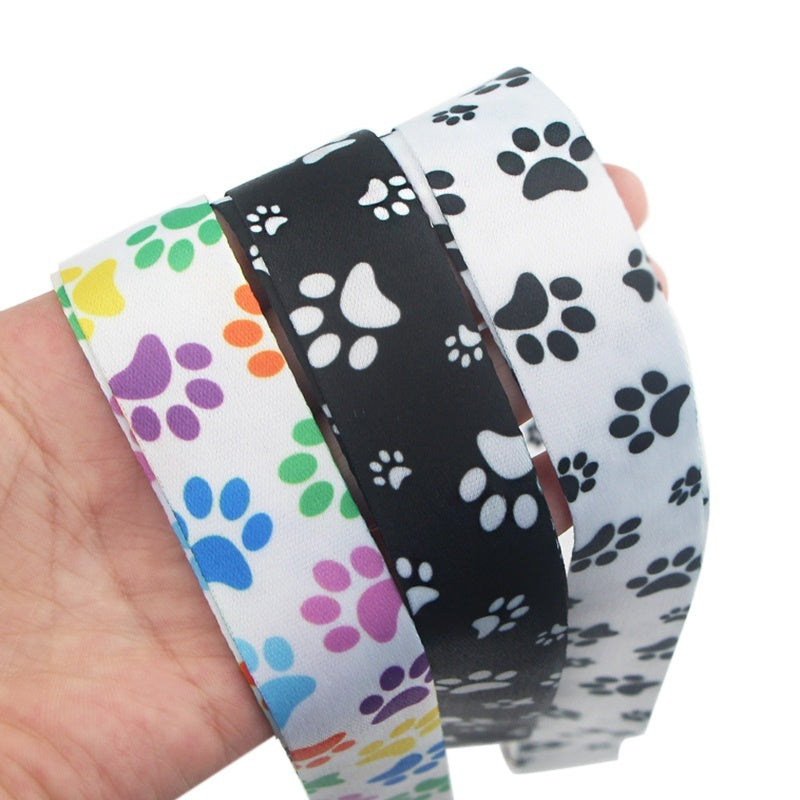 1 Pcs Animal Dog Paw Print Keychain Cartoon Cute Phone Lanyard Women Fashion Strap Neck Lanyards for ID Card Phone Keys NA215
