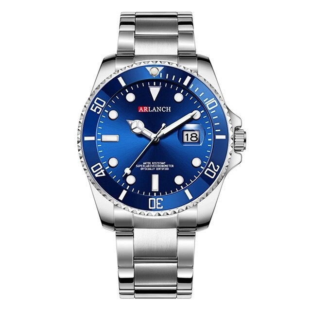 Mens Fashion Blue Rolexable Watches Sports Quartz Clock Mens Watches Luxury Luminous Male Steel Casual Business Wristwatch 2020