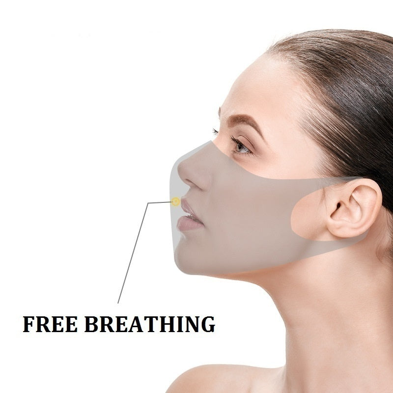 3D Mask with Ear Hooks for Personal Health Isolation Dust Air Pollution Breathable Comfortable